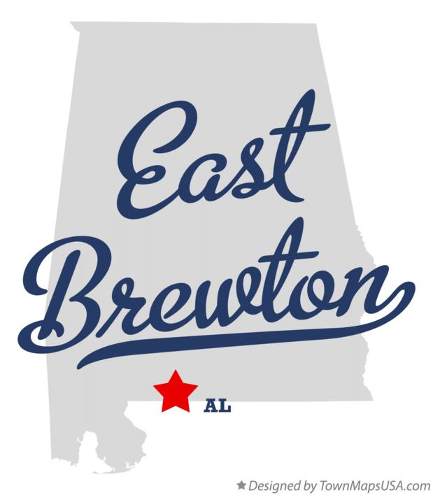 Map of East Brewton Alabama AL