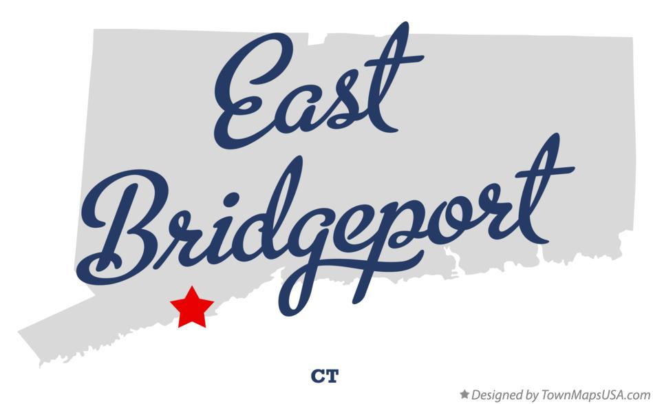 Map of East Bridgeport, CT, Connecticut