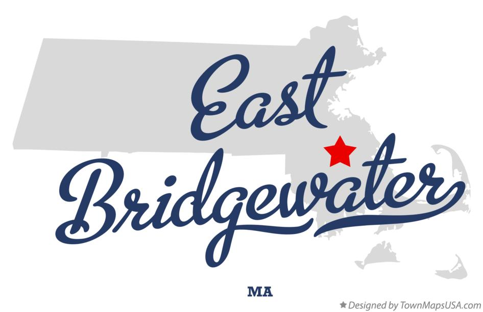 Map of East Bridgewater Massachusetts MA