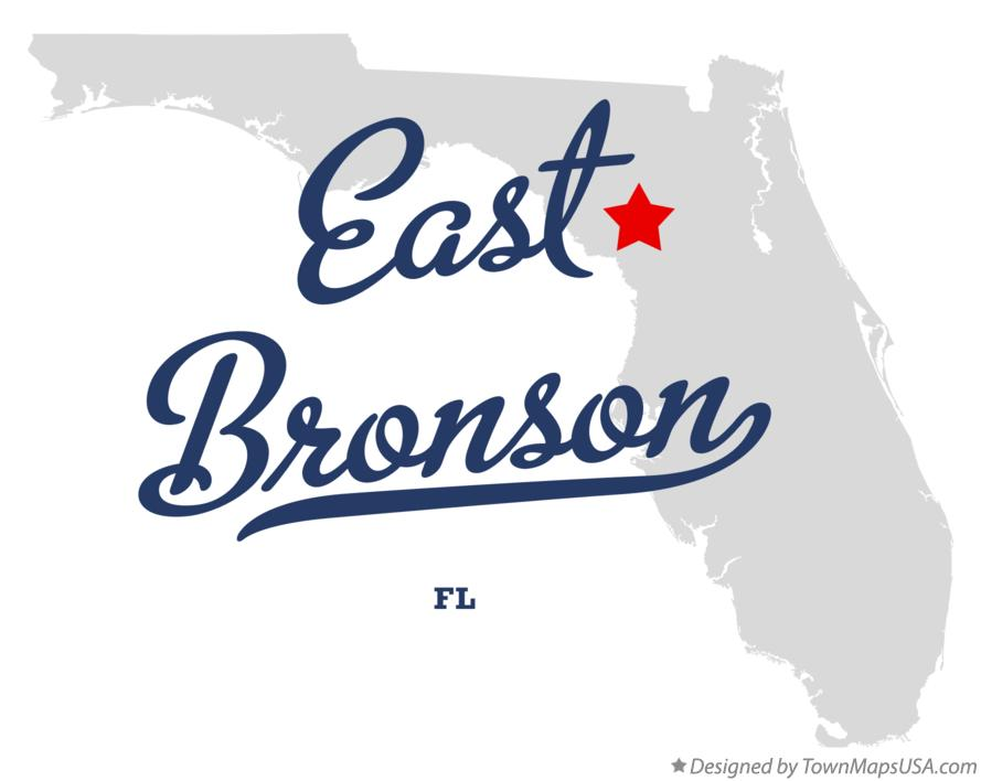 Map of East Bronson Florida FL
