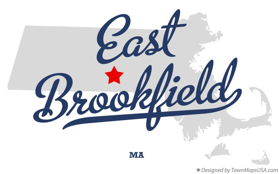 Map of East Brookfield Massachusetts MA