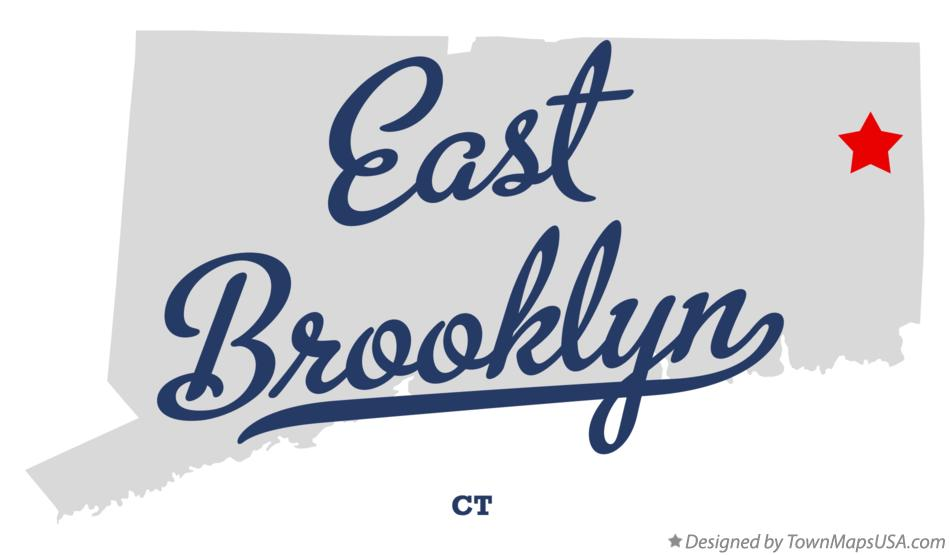 Map of East Brooklyn Connecticut CT