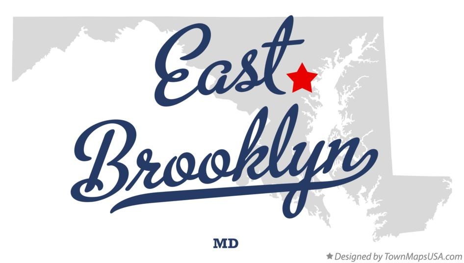 Map of East Brooklyn Maryland MD