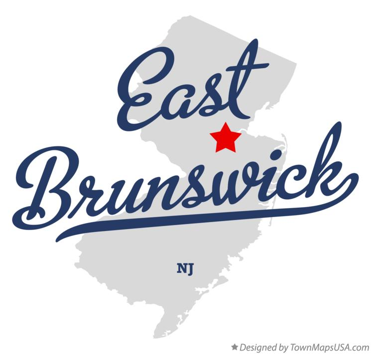 Map of East Brunswick New Jersey NJ