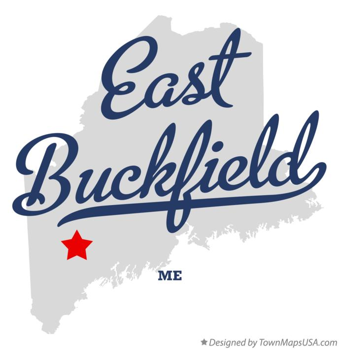 Map of East Buckfield Maine ME
