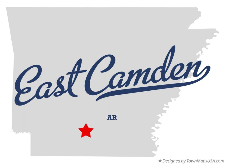 Map of East Camden Arkansas AR