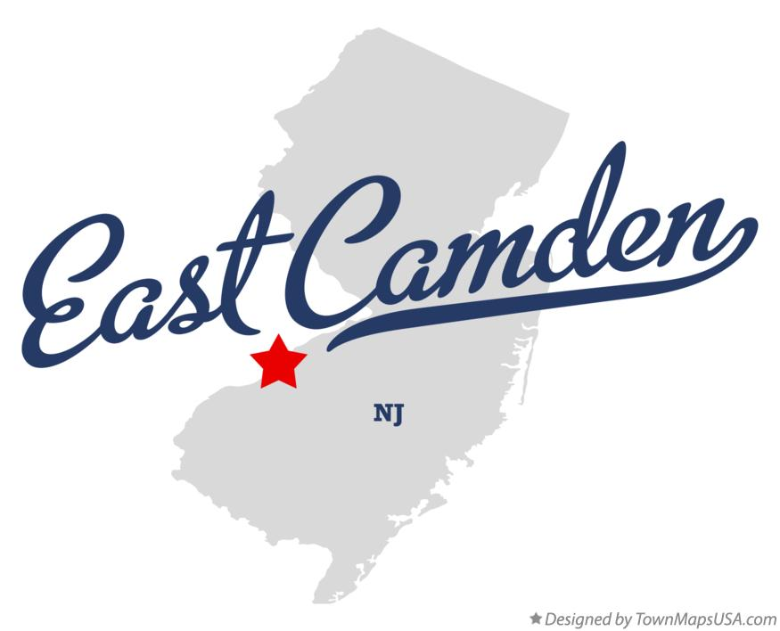 Map of East Camden New Jersey NJ