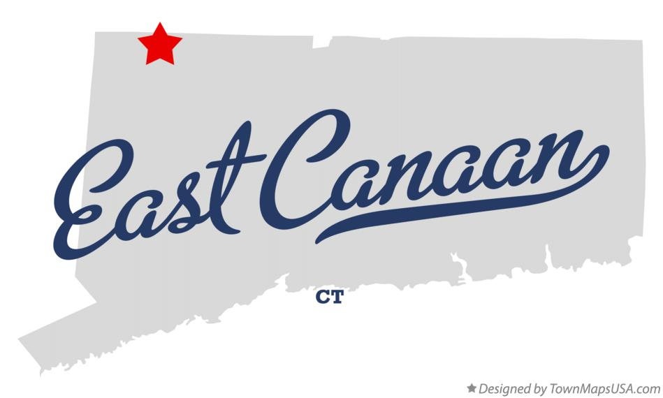 Map of East Canaan Connecticut CT