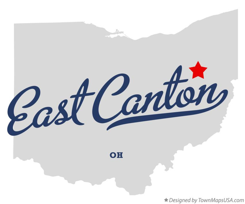 Map of East Canton Ohio OH