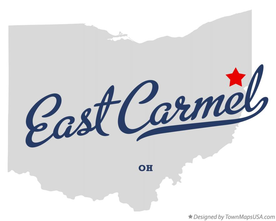 Map of East Carmel Ohio OH
