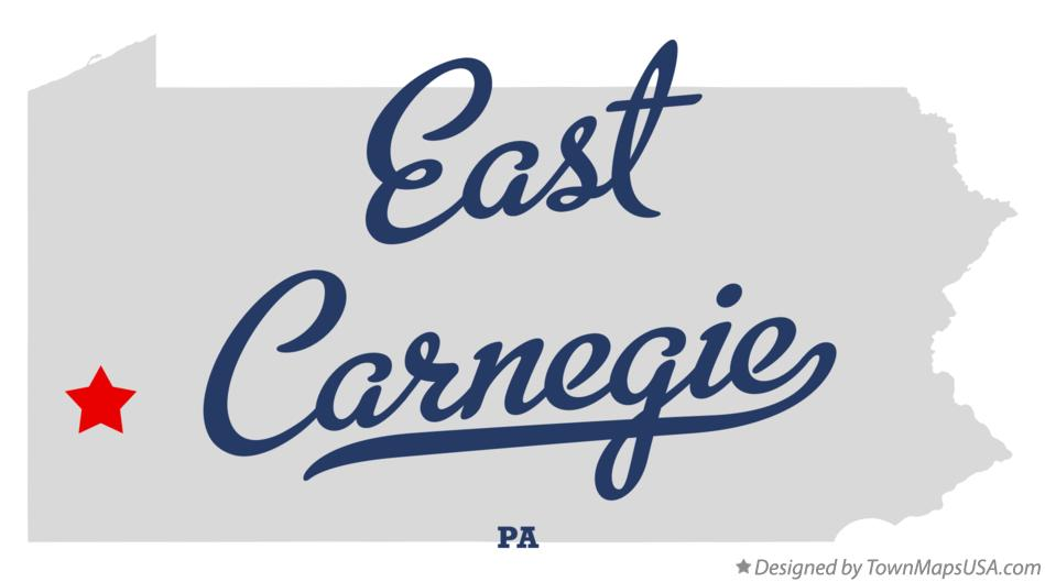 Map of East Carnegie Pennsylvania PA