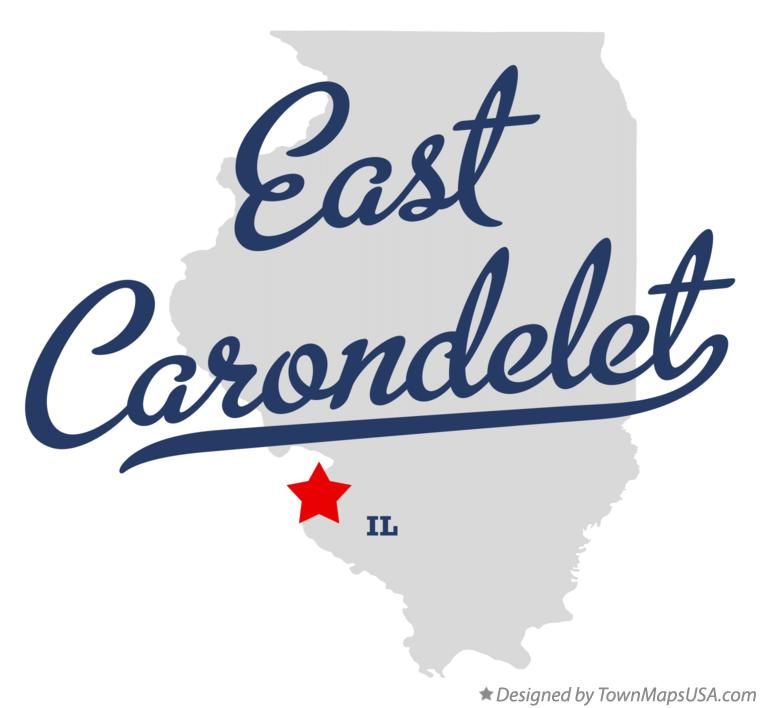 Map of East Carondelet Illinois IL