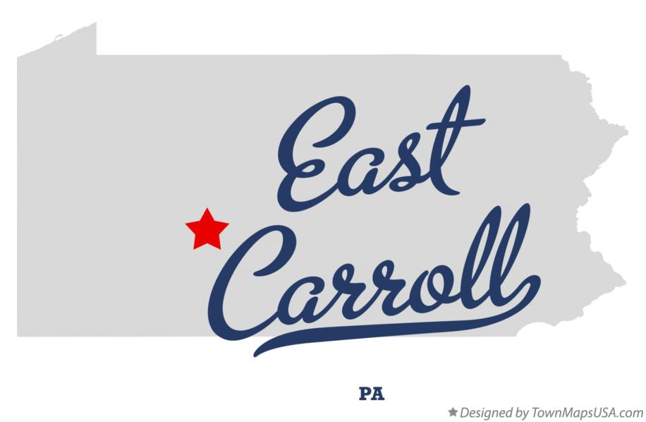Map of East Carroll Pennsylvania PA