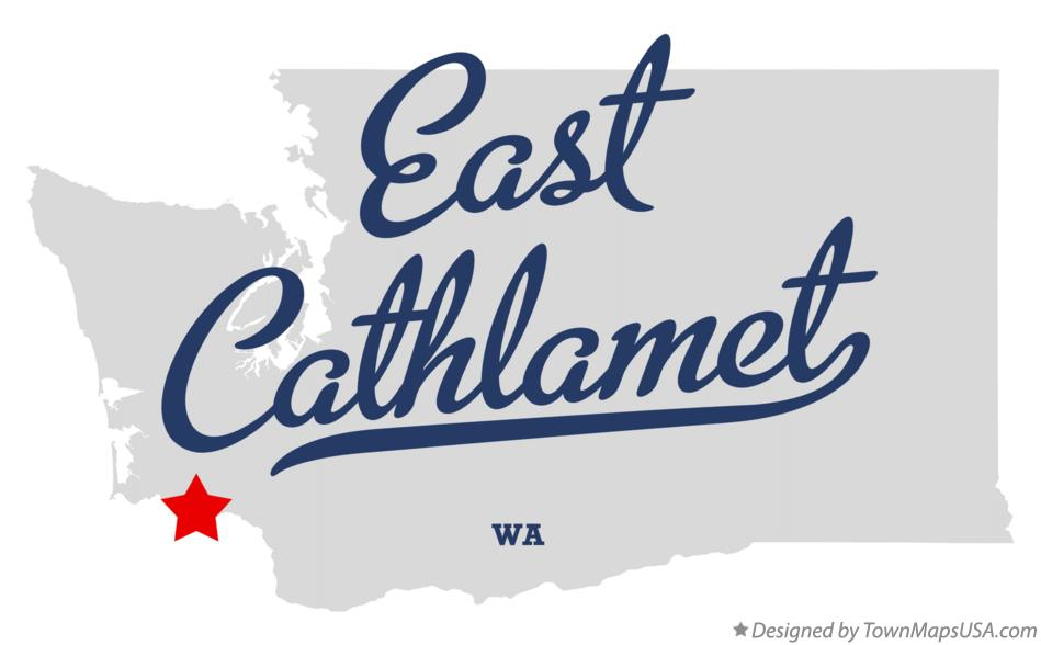 Map of East Cathlamet Washington WA