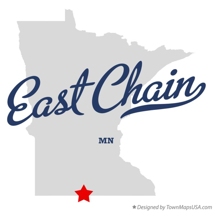 Map of East Chain Minnesota MN