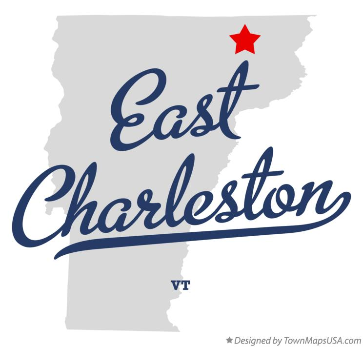 Map of East Charleston Vermont VT