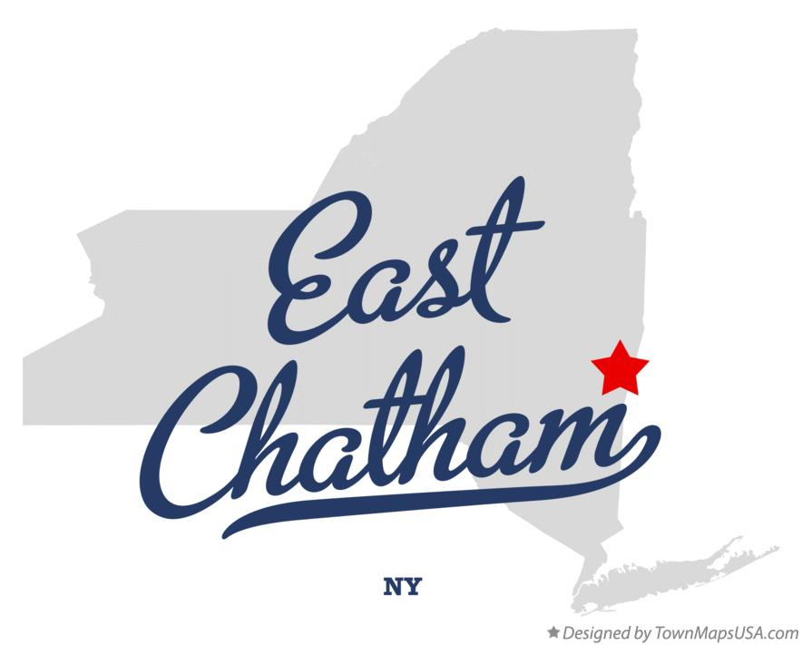 Map of East Chatham New York NY