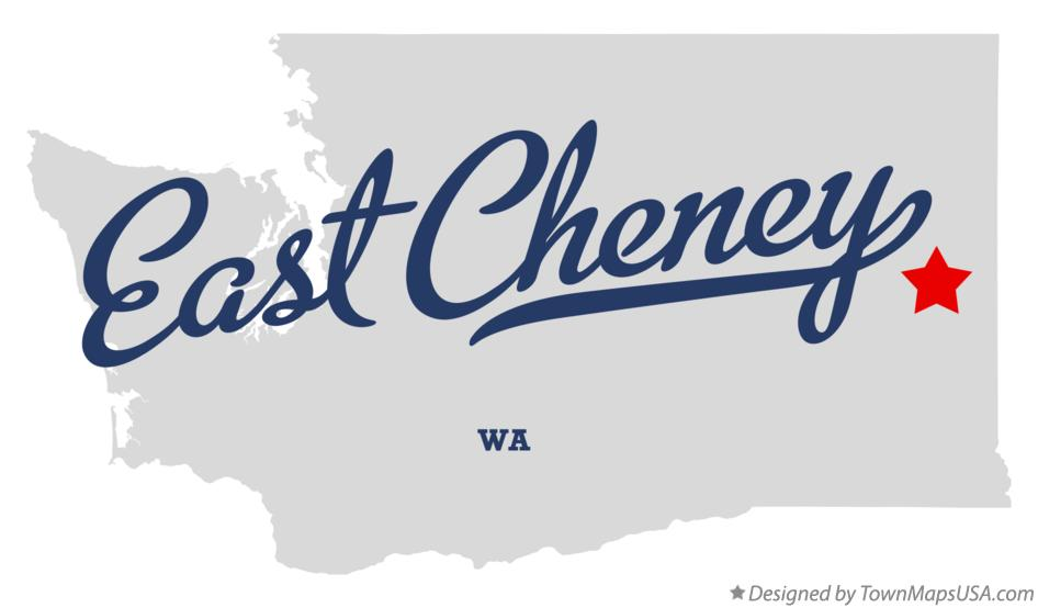 Map of East Cheney Washington WA