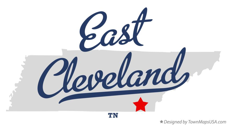 Map of East Cleveland Tennessee TN