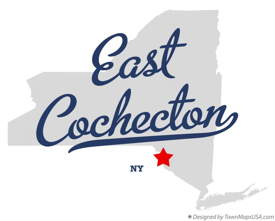 Map of East Cochecton New York NY