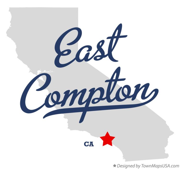Map of East Compton California CA