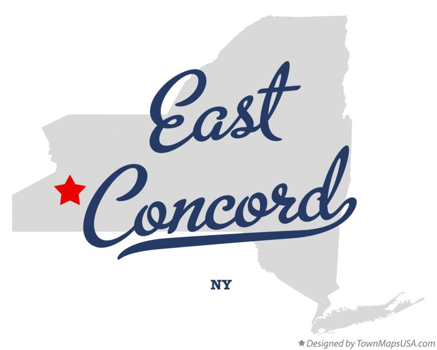Map of East Concord New York NY