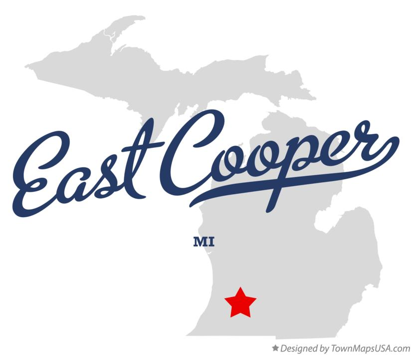 Map of East Cooper Michigan MI