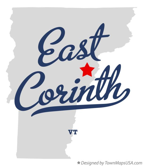 Map of East Corinth Vermont VT