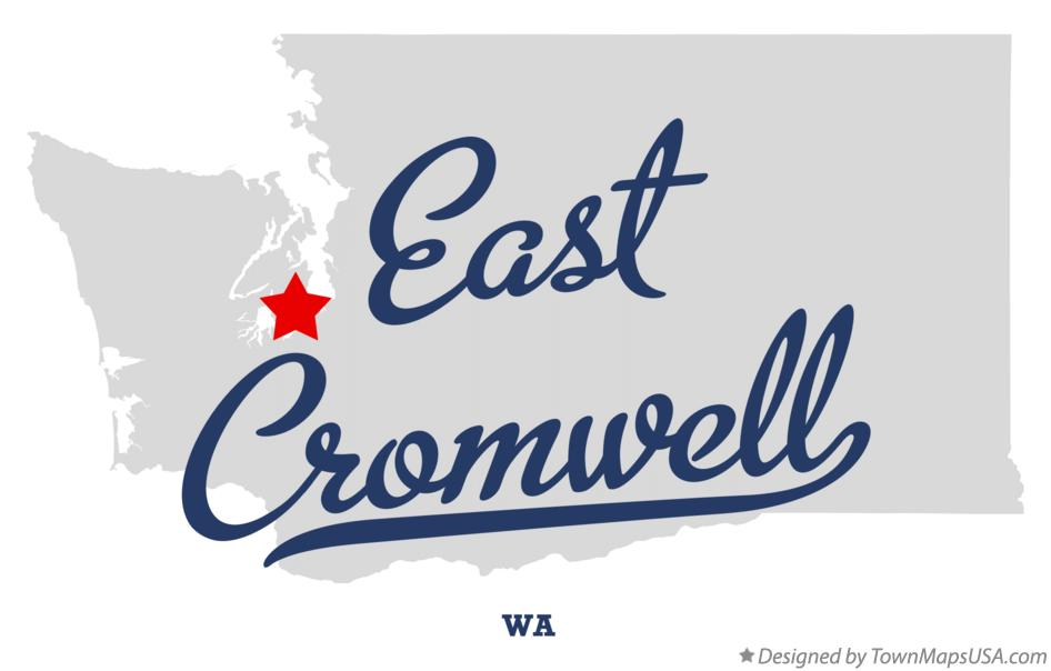 Map of East Cromwell Washington WA