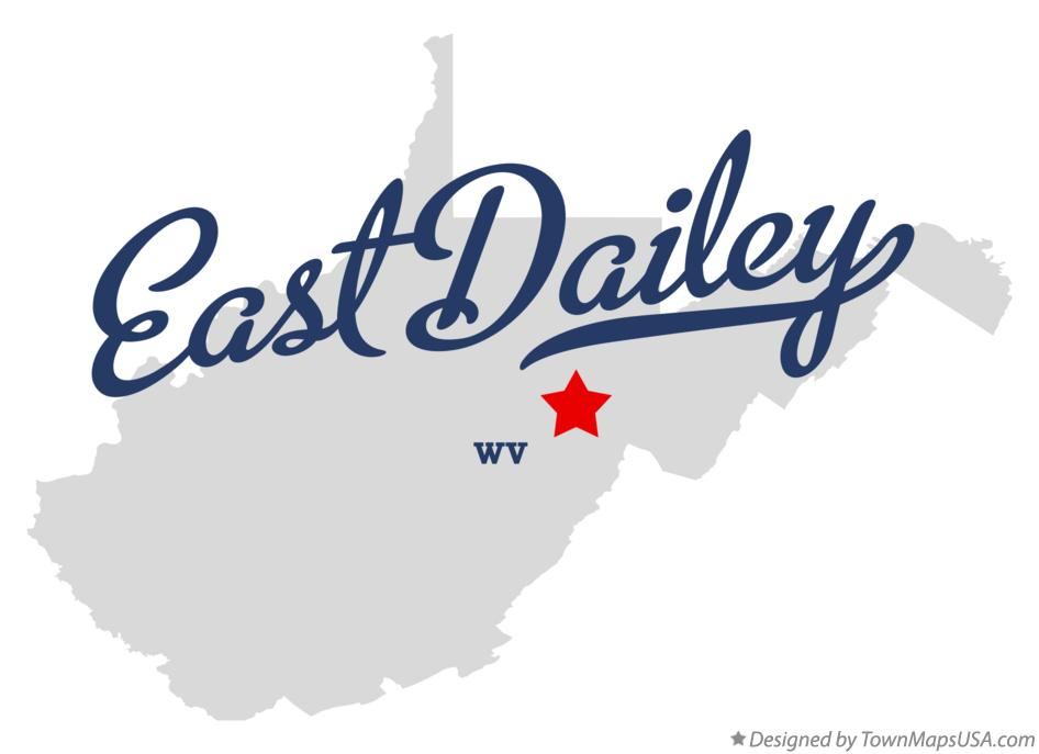 Map of East Dailey West Virginia WV