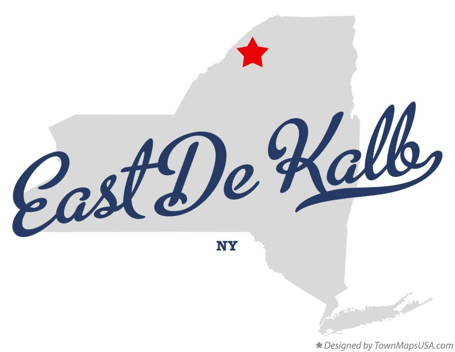 Map of East De Kalb New York NY