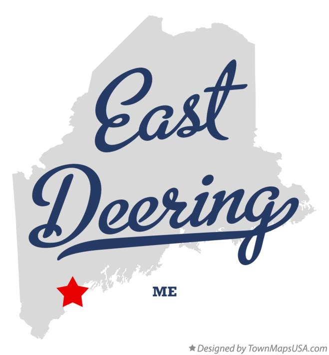 Map of East Deering Maine ME