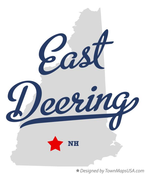 Map of East Deering New Hampshire NH