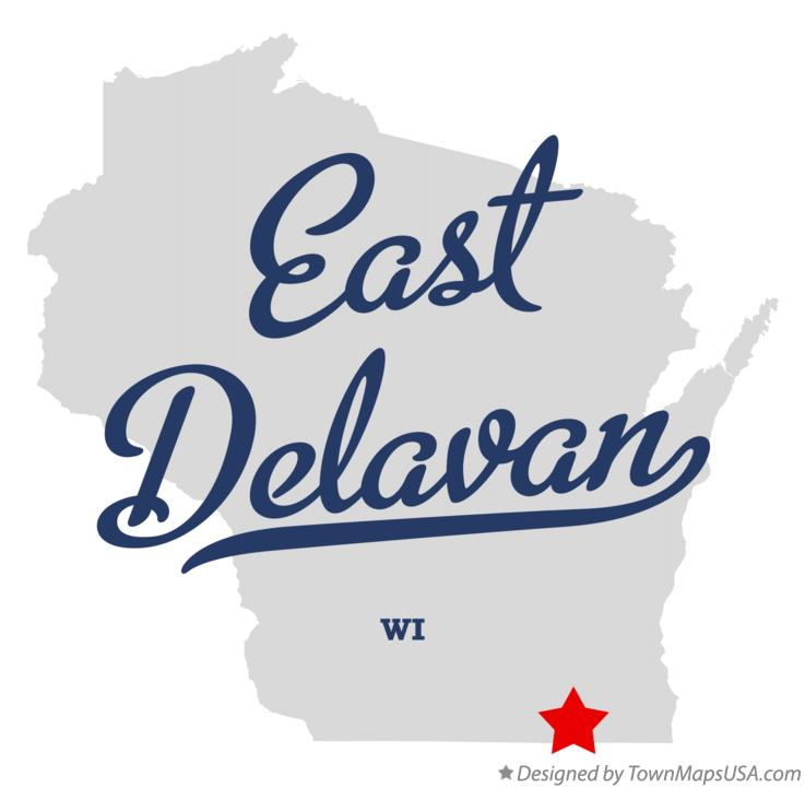 Map of East Delavan Wisconsin WI