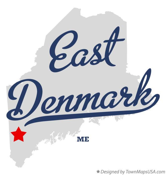 Map of East Denmark Maine ME
