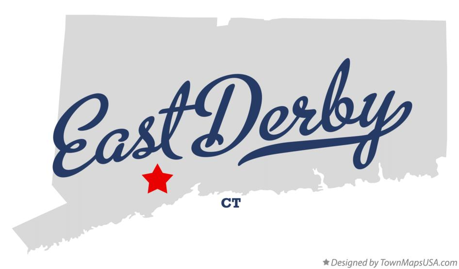 Map of East Derby Connecticut CT