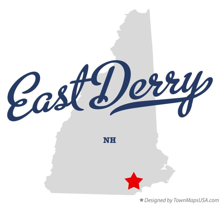 Map of East Derry New Hampshire NH