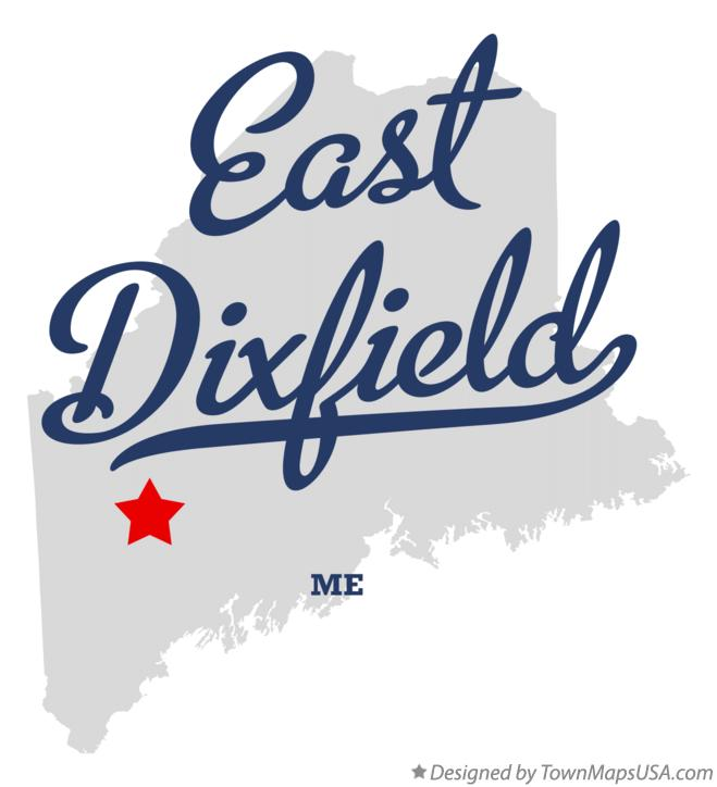 Map of East Dixfield Maine ME