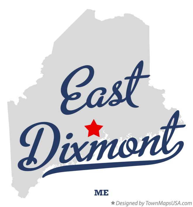 Map of East Dixmont Maine ME