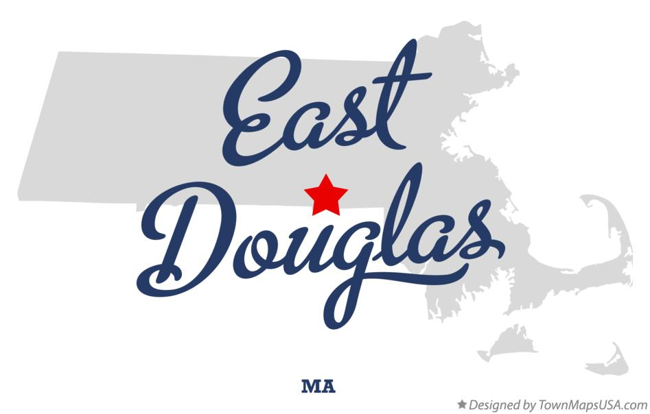 Map of East Douglas Massachusetts MA
