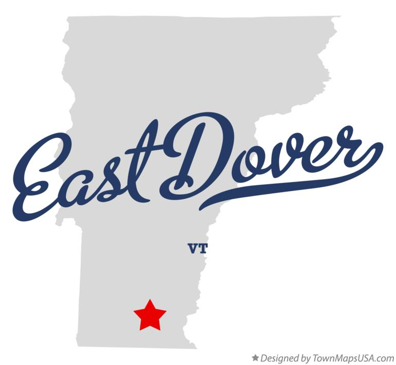 Map of East Dover Vermont VT
