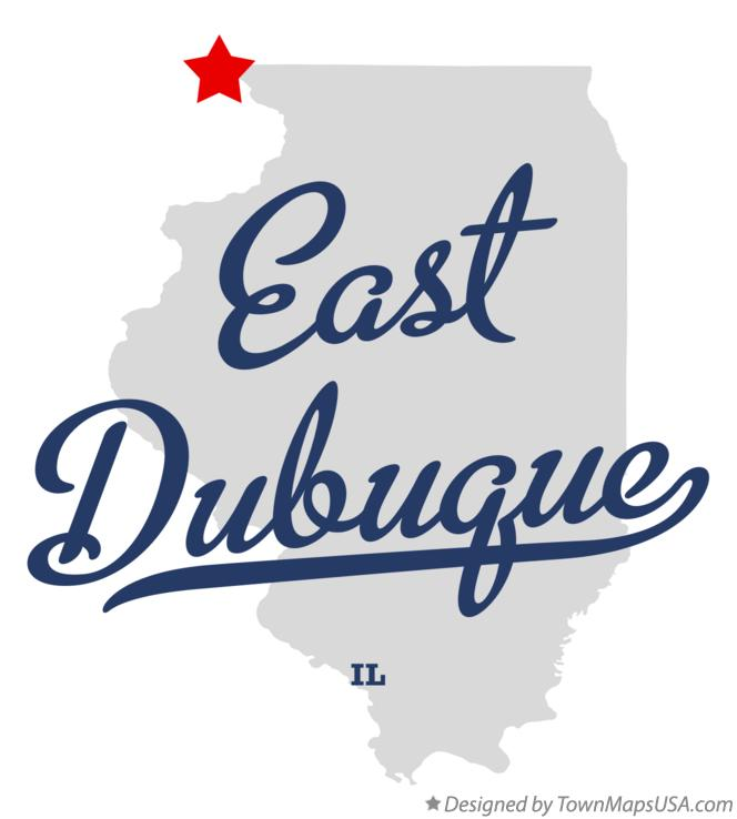 Map of East Dubuque Illinois IL