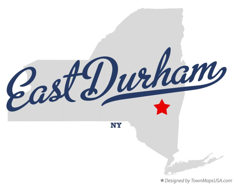 Map of East Durham New York NY