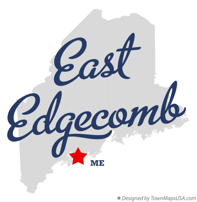 Map of East Edgecomb Maine ME