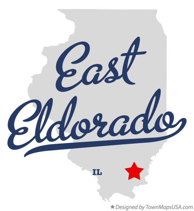Map of East Eldorado Illinois IL