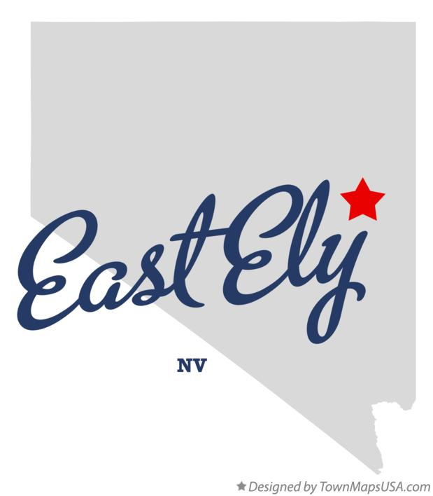 Map of East Ely Nevada NV