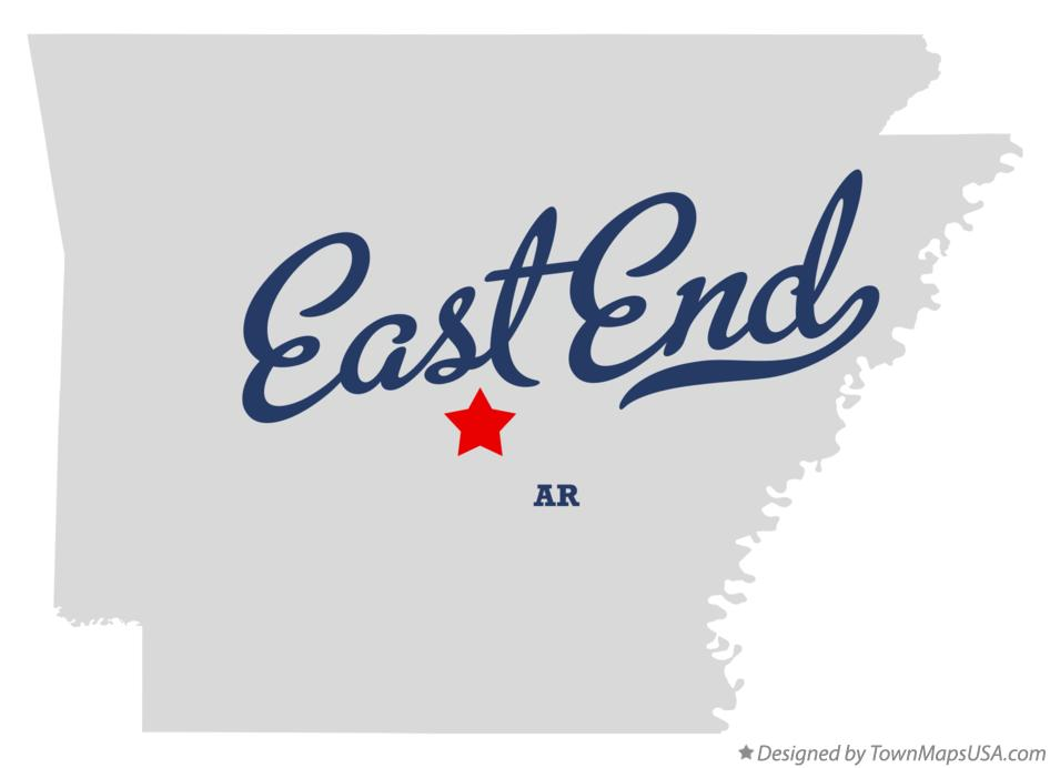 Map of East End Arkansas AR