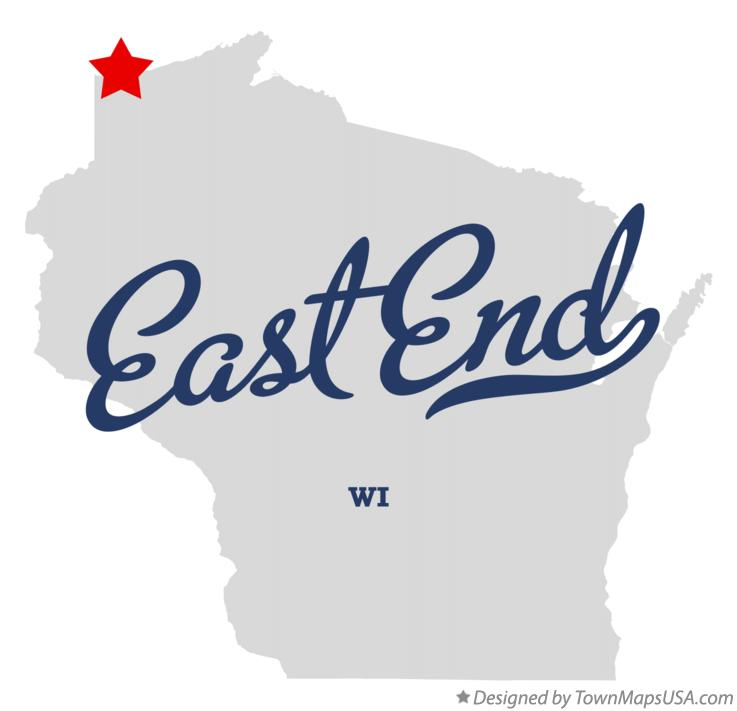 Map of East End Wisconsin WI