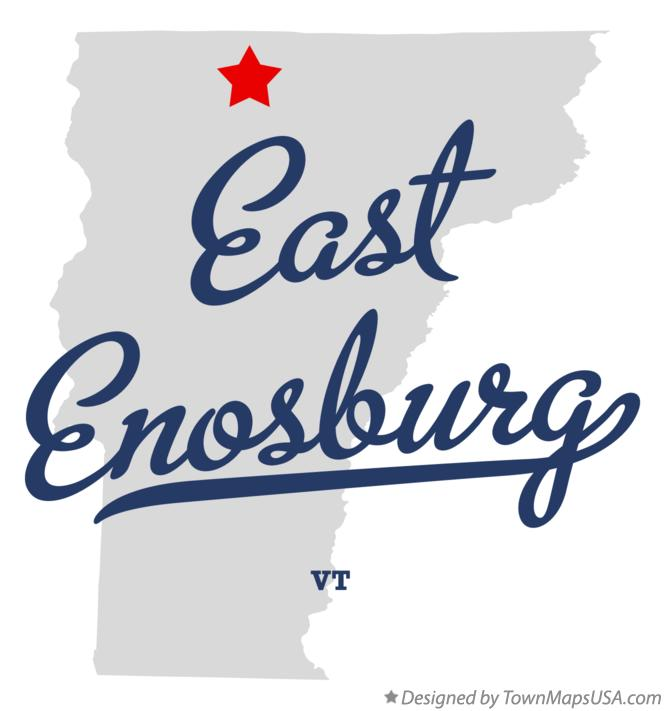 Map of East Enosburg Vermont VT