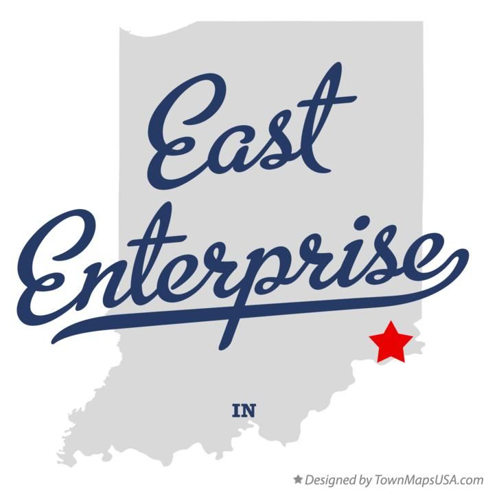 Map of East Enterprise Indiana IN
